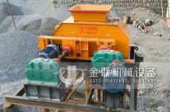 大型对辊式河卵石制砂机安装现场